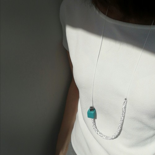 116 | Necklace with Emerald Cube