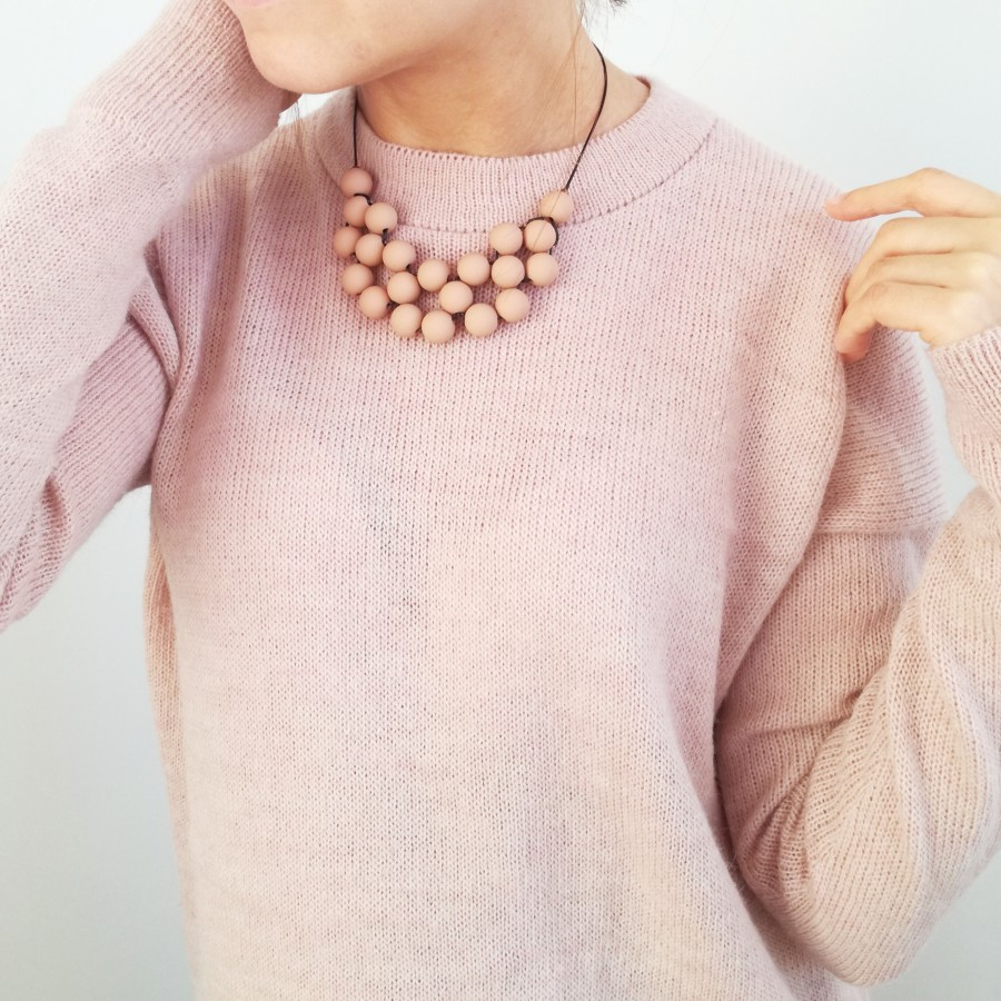060 | Dusty Pink Statement Necklace