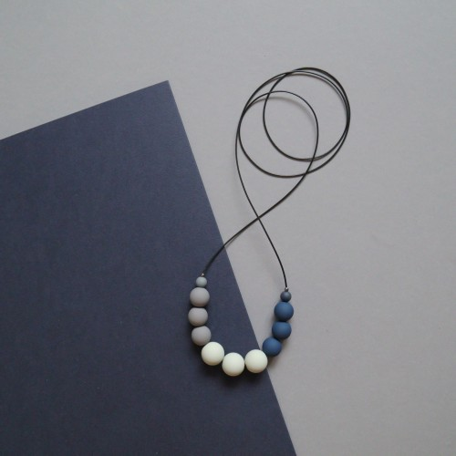 031   Necklace in Blue and Grey