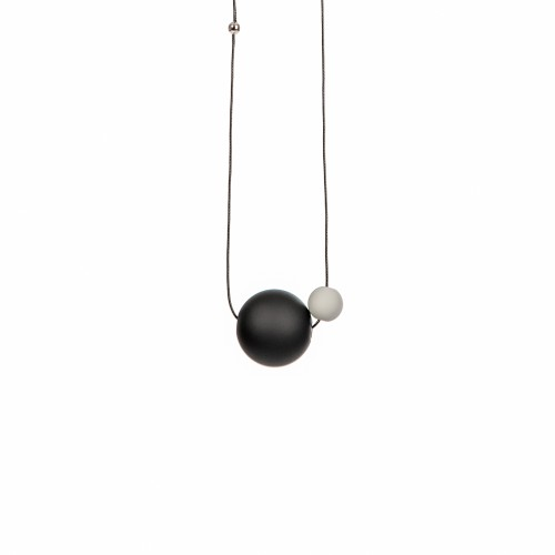 045 | Black Necklace with Little Grey