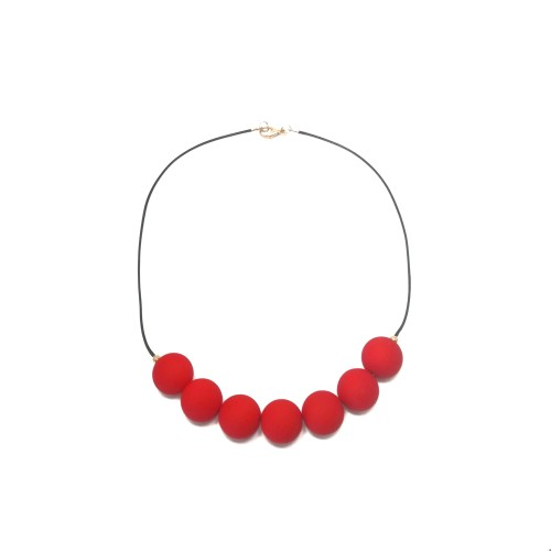 048 | Red Statement Necklace